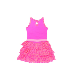 000040 LoFff  ruffle  jurk pink -Z8163-01