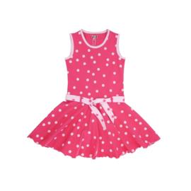 00001 LoFff jurk dots fuchsia Z8301-04