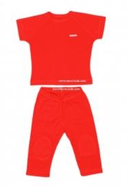 0001 Shirtje  broek en shirt oranje maat 74
