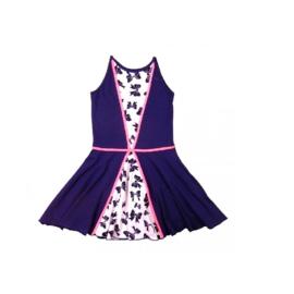 000011  LoFff jurk - Wit- donker blauw roze Z8112-05