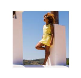 0002 Lava Lava Dress Haiti- Light Yellow Neon 18-118