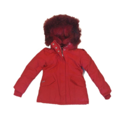 001 Airforce  parka jas rood HR72W0138 maat 128-134