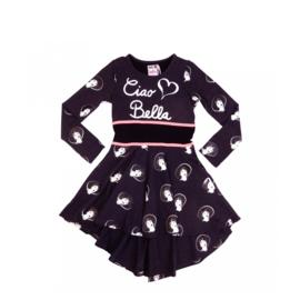4 LoFff  Z8219-02  jurk Sophia grijs