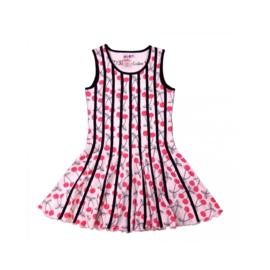 000021 LoFff jurk -  roze -zwart Z8113-01