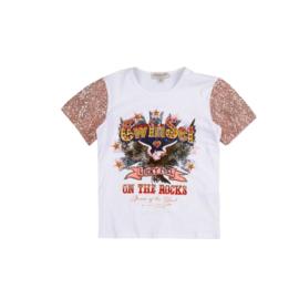 000161Twin Set by Simona Barbieri wit  shirt maat 176