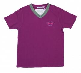16 Airforce shirt  paars (5166)6166 maat  S voordeel