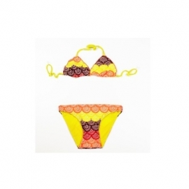 001  Zee & Zo Manana circle orange reversible bikini maat 164