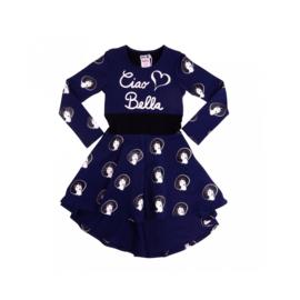 0001 LoFff  Z8219-01  jurk blauw