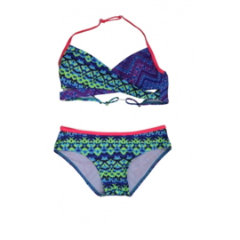 01 ZEE&ZO Bikini Paraiso Ikat Blue
