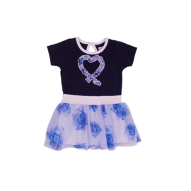 00001  LoFff jurk dansing blauw B8304-01