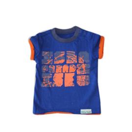 0001  LITTLE FEET blauw-oranje-grijs  T101B4 maat 68