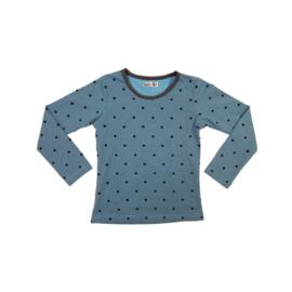 11 LoFff shirts dots blauw Z7655-01