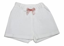 01 Hanssop broekje wit met strik maat 104