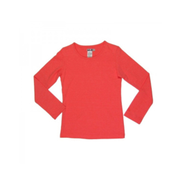004 LoFff z9211-15 basic shirt longsleeve red coral