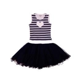 00013 LoFff jurk dansing stripe blue Z8311-05