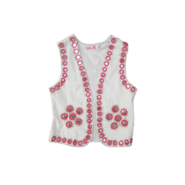 LoFff bolero  roze-wit Z7540-01