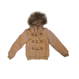 0001 Far out bomber meiden winterjas beige maat 134-140