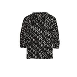 01 Mim-Pi 222 zwart-witte print  jurk