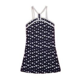 0001 LoFff Heart jurk -blauw - ZG-1006-02 maat 104