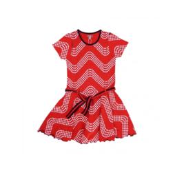 000130 LoFff jurk wave rood Z8301-03 A