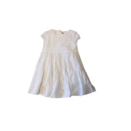 001 IDO jurk broderie wit maat 80