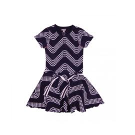 00013 LoFff jurk wave blauw  Z8301-01A