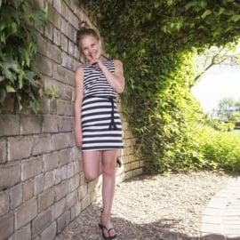 LavaLava jurk Stripes zwart en wit 19-140