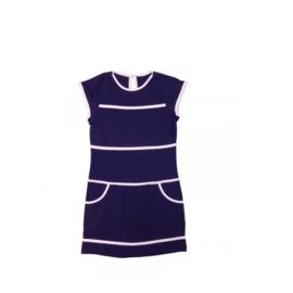 1  LoFff jurk - Wit- donker blauw Z8102-01A
