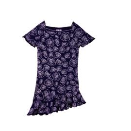 00001  LoFff jurk - Wit- donker blauw Z8118-02