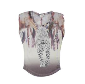 0001 Blue Pepper leopard t-shirt  188 (M)
