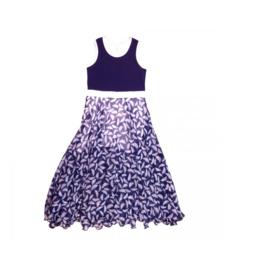 1 LoFff  Maxi jurk -  blauw -Z8106-02