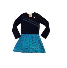 0001 Mim Pi  jurk blauw sterren maat 116