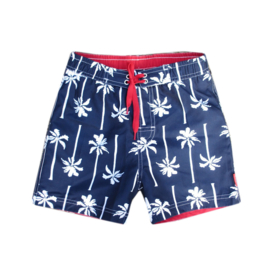 Far Out zwemshort 719214 blauw-rood wit palm