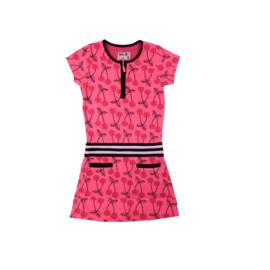 21 LoFff jurk -  roze -zwart Z8124-01