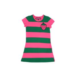 0003 Happynr1 Stripe Strawberry jurk  19-130