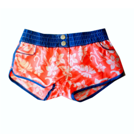 001 Far Out short 900052 oranje blauw