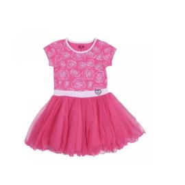 20  LoFff Dancing jurk -roze-wit Z8119-02A