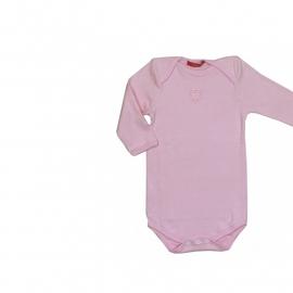 0001 Hanssop roze romper hartje lm maat 50/56