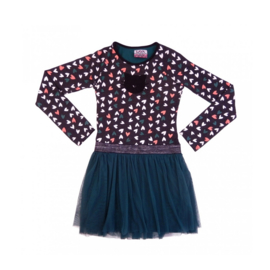001 LavaLava jurk cat zwart-hartjes 19-243