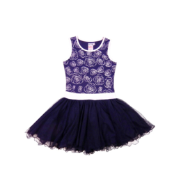 00001  LoFff dancing jurk -blauw-wit Z8119-01