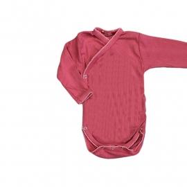 001 Hanssop roze overslag romper maat 74/80