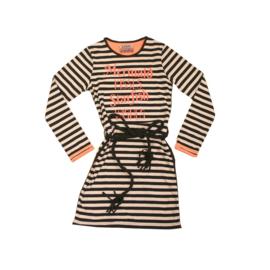 001 LavaLava jurk zwart-roze wit maat 140