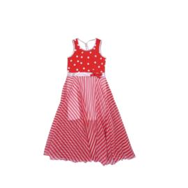 000130 LoFff jurk Barcelona rood  Z8306-03