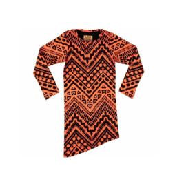 011 LavaLava jurk Aztec zwart-coral 18-231