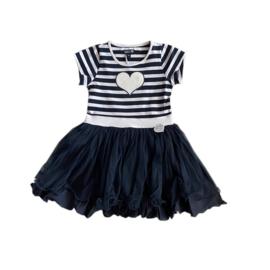 00013 LoFff jurk dansing stripe blue Z8311-05A