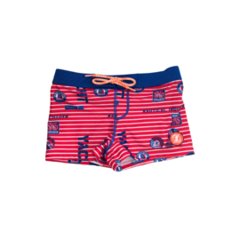 001 ZEE & ZO Douglas Red Stripe short