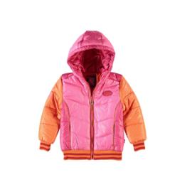 01 Bomba winterjas roze-oranje  K16-236