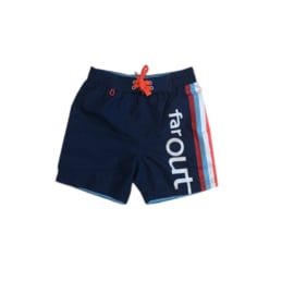 Far Out zwemshort blauw-letters 116-122