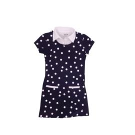00013 LoFff jurk madrid blauw dots  Z8307-02
