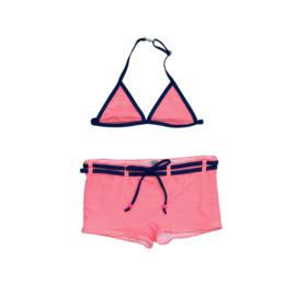 001 ZEE & ZO Poppy Stripe Coral bikini